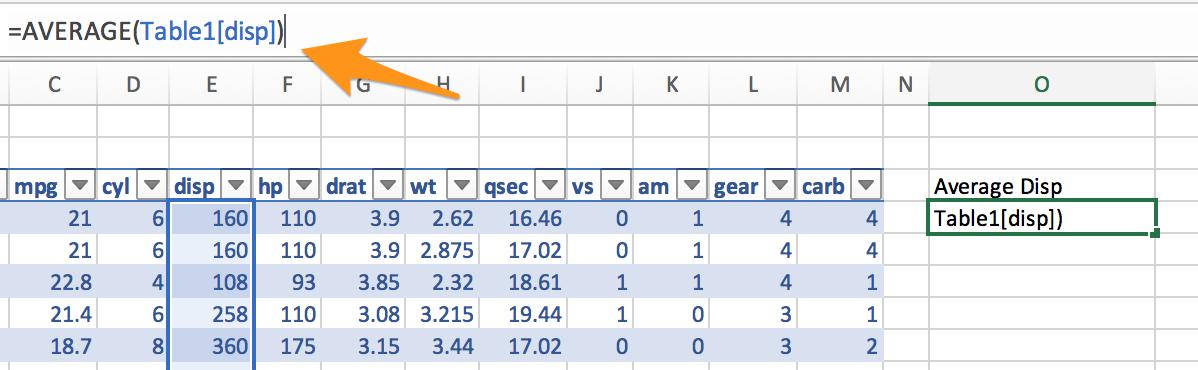 Excel Table Formula Column Ref